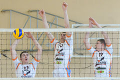 Volleyball game. Ukrainian championship Royalty Free Stock Images