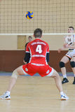 Volleyball game. Ukrainian championship Royalty Free Stock Photo