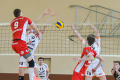 Volleyball game. Ukrainian Cup Royalty Free Stock Image