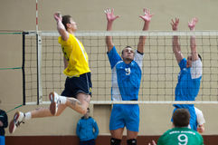 Volleyball game. Ukrainian super league Stock Photography