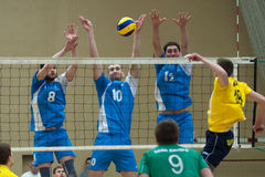 Volleyball game. Ukrainian super league Royalty Free Stock Photo