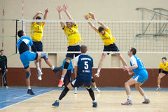 Volleyball game. Ukrainian super league Royalty Free Stock Images