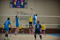 Volleyball game. Ukrainian super league Royalty Free Stock Photography