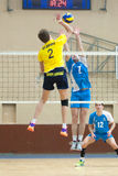 Volleyball game. Ukrainian super league Stock Images