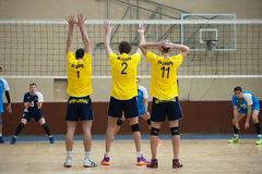 Volleyball game. Ukrainian super league Stock Photos