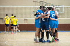 Volleyball game. Ukrainian super league Stock Image