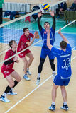 volleyball game ukrainian super league vc dnipro vc novator Stock Photography