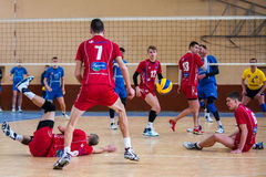 volleyball game ukrainian super league vc dnipro vc novator Royalty Free Stock Photos