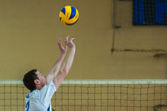 Volleyball game ukrainian super league vc dnipro vc novator Royalty Free Stock Image