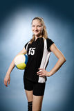 Volleyball girl stock photography