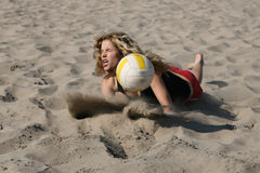 Volleyball Girl Stock Image