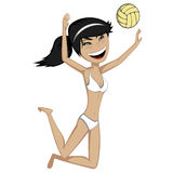 Volleyball girl Royalty Free Stock Photography