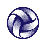 Volleyball halftone symbol royalty free stock photos