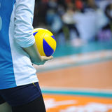 Volleyball in hand Royalty Free Stock Photos