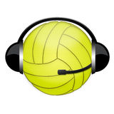 Volleyball headphone sign Royalty Free Stock Photo