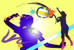 Volleyball hit Royalty Free Stock Photography