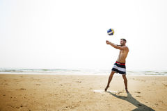Volleyball Hobby Leisure Activity Playing Beach Concept Royalty Free Stock Photography