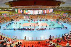 Volleyball. Hua Mark Indoor Stadium at Volleyball world grand prix 2014, PRELIMINARY ROUND Pools Composition - POOL A-I (August 1-24, 2014 Royalty Free Stock Photography