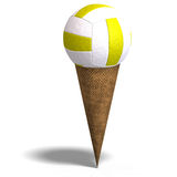 Volleyball in an ice cream cone Stock Image