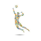 Volleyball icon, Rio icon,  illustration. Volleyball icon, Rio icon  illustration Royalty Free Stock Photos