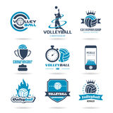 Volleyball icon set - 2 Royalty Free Stock Photography