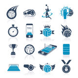 Volleyball icon set Royalty Free Stock Image