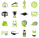 Volleyball icon set. Volleyball simply icons for web and user interfaces Stock Photo