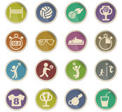 Volleyball icon set. Volleyball web icons for user interface design Stock Images