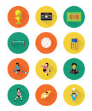 Volleyball icons set Royalty Free Stock Photo