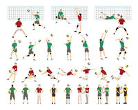 Volleyball illustrations set. Stock Photos