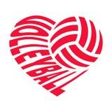 Volleyball im Herzen Stockfotografie