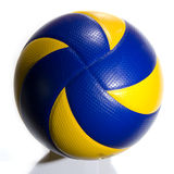 Volleyball isolated. A professional volleyball on white background, square composition royalty free stock photos