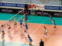 Volleyball: Italië tegen Duitsland Stock Foto's
