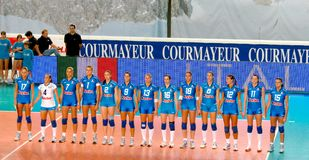 Volleyball: the Italian team Royalty Free Stock Image