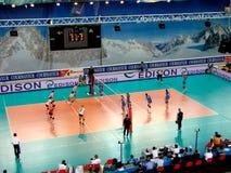 Volleyball: Italien gegen Deutschland Lizenzfreies Stockbild