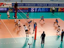 Volleyball: Italy against Germany Stock Photos