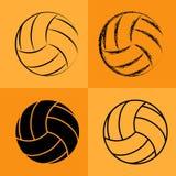 Volleyball-Kugel stellte 2 ein Lizenzfreie Stockfotos