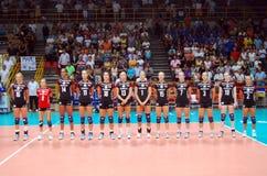 Volleyball : L'équipe allemande Photographie stock libre de droits