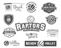 Volleyball labels, badges, logo and icons set Royalty Free Stock Photos