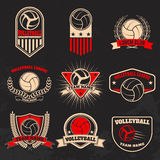 Volleyball labels. Design elements Stock Photography