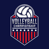 Volleyball logo, America logo. Logo badge Royalty Free Stock Images
