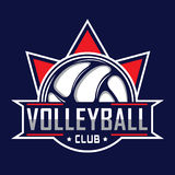 Volleyball logo, America logo. Logo badge Stock Images