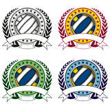 Volleyball logo set Royalty Free Stock Images