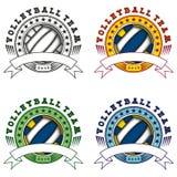 Volleyball logo set Stock Photo