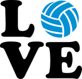 Volleyball Love with ball Royalty Free Stock Photos