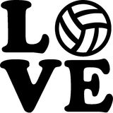 Volleyball love Stock Image