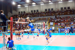 Volleyball : Match d'essai de Preolympic Photo stock