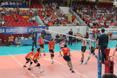 Volleyball match european ligue Stock Image