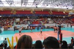Volleyball match european ligue Stock Photography