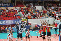 Volleyball match european ligue Royalty Free Stock Photos